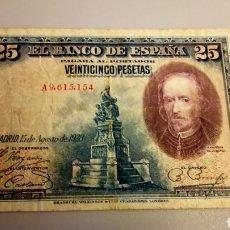 Monedas de España: BILLETE DE 25 PESETAS DE 1928. CALDERÓN DE LA BARCA. Lote 207773198