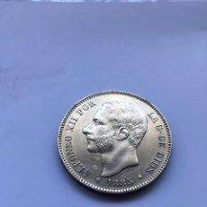 Monedas de España: 5 PESETAS ALFONSO XII 1885 *18 -*87 PLATA.. Lote 207833262