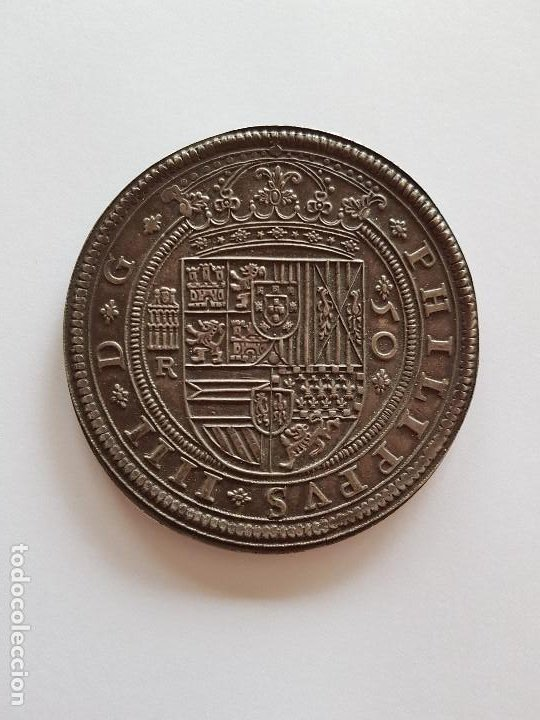 ESPECTACULAR CINCUENTIN DE FELIPE IIII (Numismática - España Modernas y Contemporáneas - De Reyes Católicos (1.474) a Fernando VII (1.833))