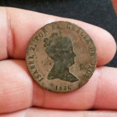 Monedas de España: ISABEL II, 8 MARAVEDIS 1836 JUVIA - MONEDA ANTIGUA ESPAÑOLA. Lote 208229415