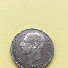 Monedas de España: 5 PESETAS ALFONSO XII VARIANTE 1882 SOBRE 81 ESTRELLA *81 PLATA.. Lote 203045701