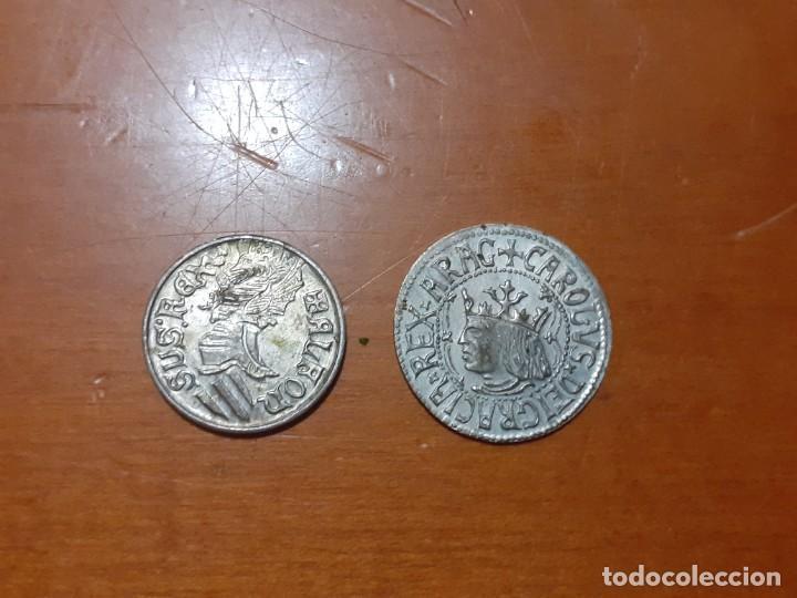 Monedas de España: Reproducción de monedas de plata de la corona de Aragón siglo XVI - XVII - Foto 2 - 208313320