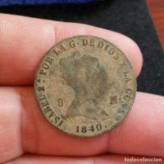 Monedas de España: ISABEL II, 8 MARAVEDIS 1840 SEGOVIA - MONEDA ANTIGUA ESPAÑOLA. Lote 208340027