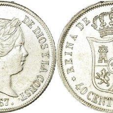 Monedas de España: ESPAÑA ISABEL II MADRID 40 CÉNTIMOS 1867 PLATA KM: 628.2 MS LUJO 3115. Lote 209234697