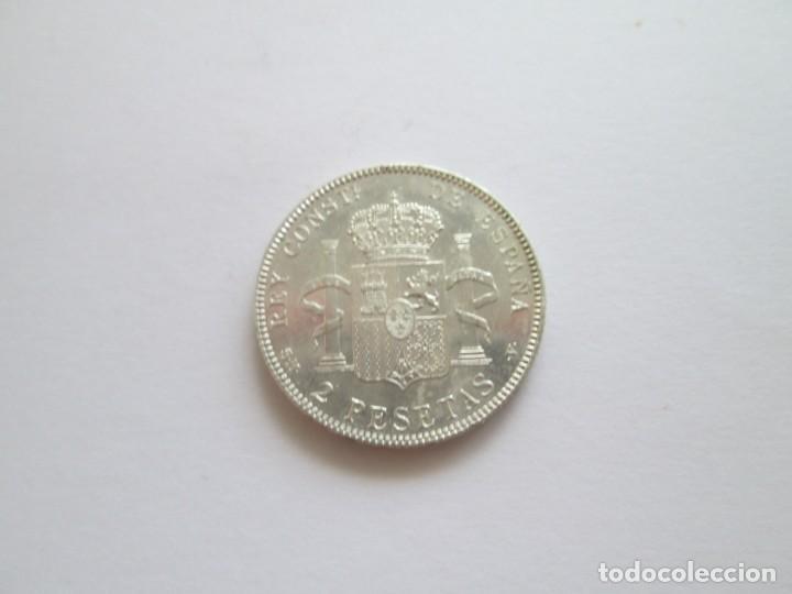 Monedas de España: ALFONSO XIII * 2 PESETAS 1905*05 SM V * PLATA - Foto 2 - 209804468