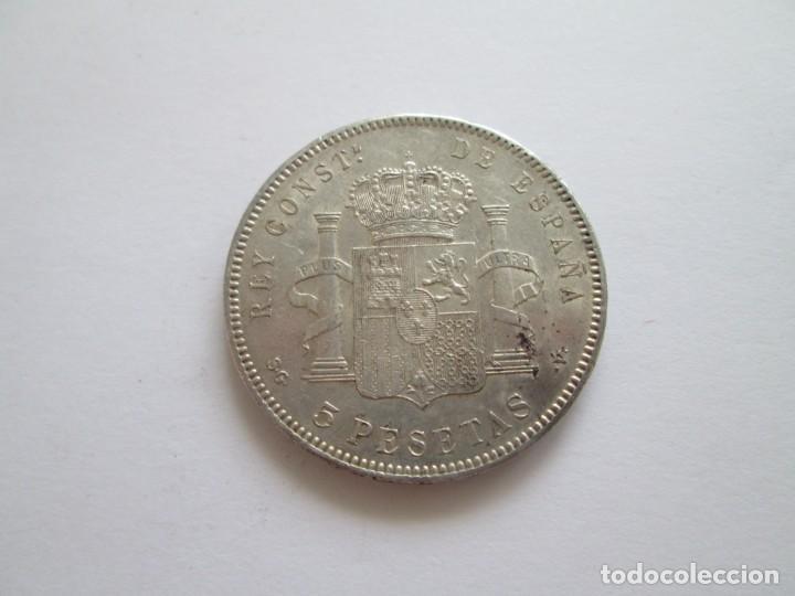 Monedas de España: ALFONSO XIII * 5 PESETAS 1898*98 SG V * PLATA - Foto 2 - 209853982