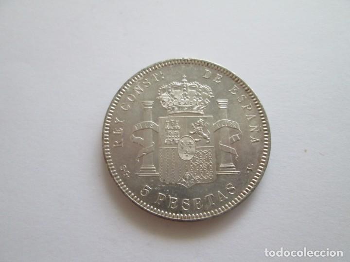 Monedas de España: ALFONSO XIII * 5 PESETAS 1899*99 SG V * SC * PLATA - Foto 2 - 209854446
