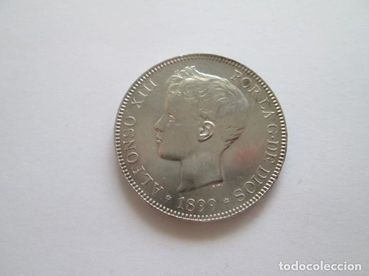 ALFONSO XIII * 5 PESETAS 1899*99 SG V * SC * PLATA (Numismática - España Modernas y Contemporáneas - De Isabel II (1.834) a Alfonso XIII (1.931))