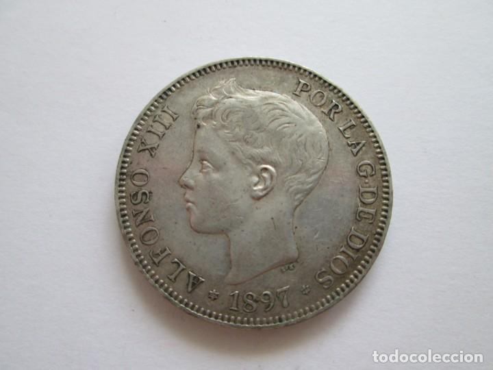 ALFONSO XIII * 5 PESETAS 1897*97 SG V * PLATA (Numismática - España Modernas y Contemporáneas - De Isabel II (1.834) a Alfonso XIII (1.931))