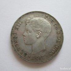 Monedas de España: ALFONSO XIII * 5 PESETAS 1897*97 SG V * PLATA. Lote 209857381
