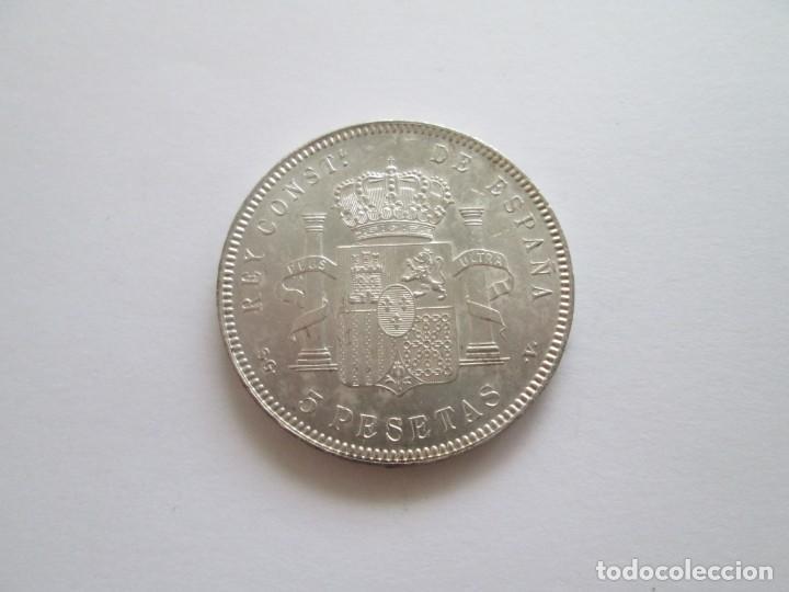 Monedas de España: ALFONSO XIII * 5 PESETAS 1899*99 SG V * SC * PLATA - Foto 2 - 209857745