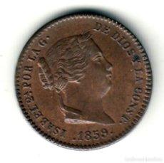 Monedas de España: ESPAÑA: 5 CENTIMOS DE REAL 1859 SEGOVIA - REINA ISABEL II EN CALIDAD S/C. Lote 209860600