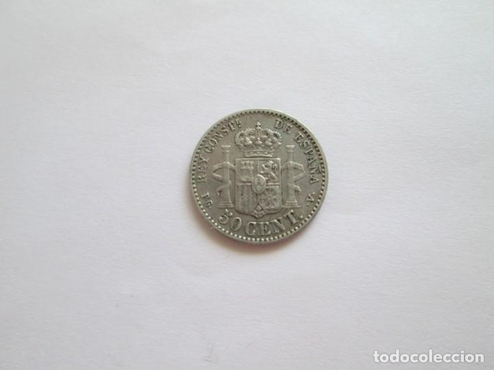 Monedas de España: ALFONSO XIII * 50 CENTIMOS 1894 PG V * ESTRELLAS VISIBLES PLATA - Foto 2 - 210264343