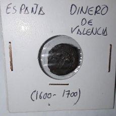 Monedas de España: DINERO DE VALENCIA 1600-1700. Lote 210347377