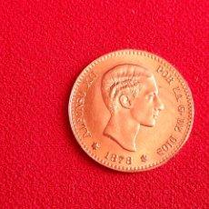 Monedas de España: MONEDA DE ORO 22 K -10 PESETAS ALFONSO XII POR LA G. DE DIOS 1878 EN PERFECTO ESTADO.PESA 3.22 G. Lote 210380105