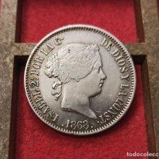 Monedas de España: ESPAÑA 50 CÉNTIMOS DE PESO ISABEL II - 1868 MANILA KM 147 PLATA. Lote 210387048