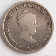 Monedas de España: DOS REALES PLATA ISABEL II 1850 SEVILLA. Lote 210395301