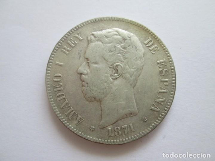 AMADEO I * 5 PESETAS 1871*73 * COPIA * PLATA (Numismática - España Modernas y Contemporáneas - De Isabel II (1.834) a Alfonso XIII (1.931))