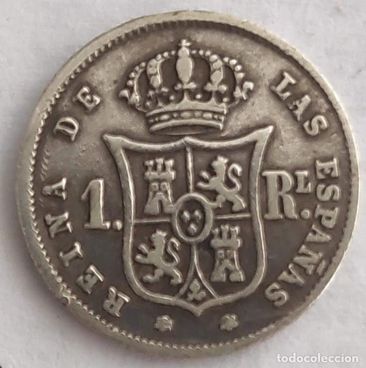Monedas de España: UN REAL ISABEL II 1859 MADRID PLATA - Foto 2 - 210537066