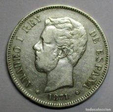 Moedas de Espanha: AMADEO I, 5 PESETAS DE PLATA 1871 * 18 - 75. CECA DE MADRID-D.E.M. DURO DE PLATA. LOTE 2788. Lote 210557098