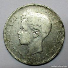 Moedas de Espanha: ALFONSO XIII, 5 PESETAS DE PLATA 1896 * 18 - 96. CECA DE MADRID-P.G.V. LOTE 2980. Lote 210557183