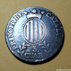 Monedas de España: ISABEL II * 1836 * 3 CUARTOS * CATALUÑA. Lote 210744331