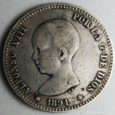 Monedas de España: ESPAÑA 1 PESETA 1891 ESTRELLAS * *91 PLATA. ¡¡¡¡LIQUIDACION COLECCION!!!!!. Lote 210797246