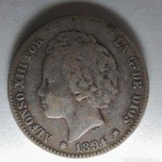 Monedas de España: ESPAÑA 1 PESETA 1894 RARA ESTRELLAS NO VISIBLES PLATA. ¡¡¡¡LIQUIDACION COLECCION!!!!!. Lote 210797689