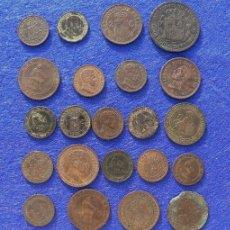 Monedas de España: LOTE DE MONEDAS DE COBRE GOBIERNO PROVISIONAL HASTA ALFONSO XIII. Lote 210808394