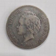 Monedas de España: MONEDA ESPAÑA 5 PTS ALFONSO XIII 1893 PLATA. Lote 210834015