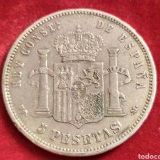 Monedas de España: MONEDA DE PLATA, 5 PESETAS 1888 MP M, ALFONSO XIII. Lote 210941074