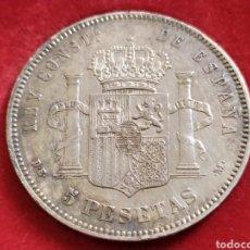 Monedas de España: MONEDA DE PLATA, 5 PESETAS 1877 DE M, ALFONSO XII. Lote 210941906