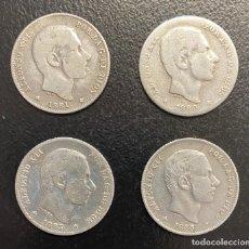 Monedas de España: ESPAÑA, LOTE DE CUATRO MONEDAS DE 20 CENTAVOS, ALFONSO XII. Lote 211267921