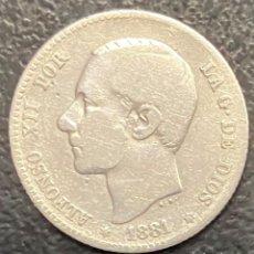 Monedas de España: ESPAÑA, MONEDA DE 1 PESETA DE ALFONSO XII. Lote 211269080