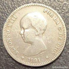 Monedas de España: ESPAÑA, MONEDA DE 1 PESETA DE ALFONSO XIII. Lote 211272075