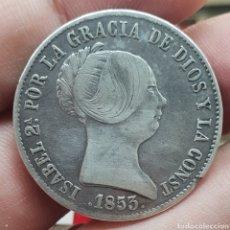Monedas de España: BONITOS 10 CENTIMOS DE REAL 1853 BARCELONA ISABEL II. Lote 211274664