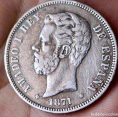 Monedas de España: PLATA-ESPAÑA. 5 PESETAS 1871 *71. AMADEO I. Lote 211403501