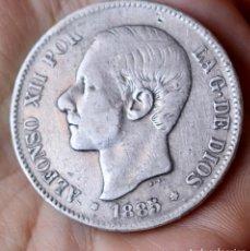 Monedas de España: 5 PESETAS DE PLATA DE 1885. -- --. .REY ALFONSO XII.. Lote 211404166