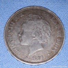 Monedas de España: MONEDA 5 PESETAS ALFONSO XIII AÑO 1893 18* 93* PLATA. Lote 211412217
