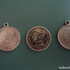 Monedas de España: TRES MONEDAS DE ALFONSO XIII. PLATA. AÑO 1904. 50 CÉNTIMOS. Lote 211437597