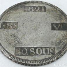 Moedas de Espanha: RÉPLICA MONEDA 1821. 30 SOUS. REY FERNANDO VII. MALLORCA, ESPAÑA GUERRA DE LA INDEPENDENCIA ESPAÑOLA. Lote 211507645