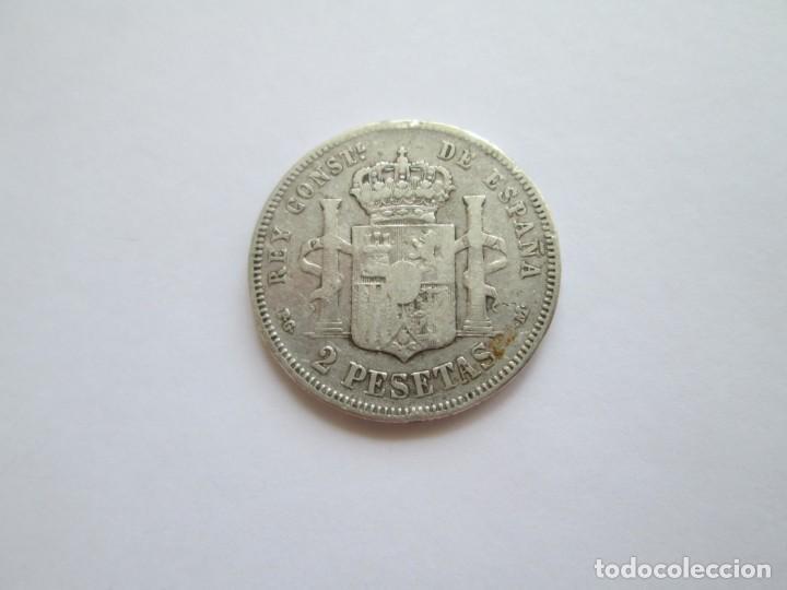 Monedas de España: ALFONSO XIII * 2 PESETAS 1891 PG M * PLATA ESCASA - Foto 2 - 211664229