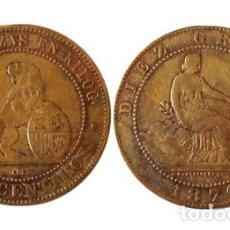 Monedas de España: GOBIERNO PROVISIONAL 10 CENTIMOS 1870, ESPAÑA. Lote 211978091