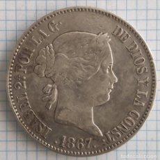 Monedas de España: UN ESCUDO PLATA ISABEL II 1867 MADRID. Lote 212081500