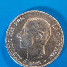 Monedas de España: MONEDA DE 2 PESETAS DE PLATA ALFONSO XII-1882. Lote 212557242