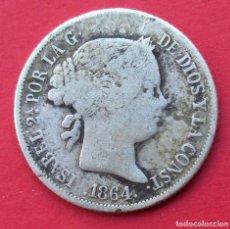 Monedas de España: ISABEL II. MONEDA DE 40 CENTIMOS DE ESCUDO. 1864. PLATA.. Lote 212788478