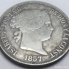 Monedas de España: RÉPLICA MONEDA 1857. 20 REALES. MADRID, REINA ISABEL II, ESPAÑA. RARA. Lote 212995265