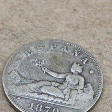 Monedas de España: MONEDA DE PLATA 2PESETAS 1870. Lote 213156795