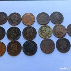 Monedas de España: 16 MONEDAS 10 CÉNTIMOS DE COBRE ALFONSO XII. B6. Lote 213298030