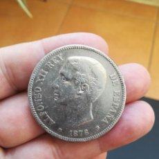 Monedas de España: MONEDA DE 5 PESETAS (DURO) DE ALFONSO XII DEL AÑO 1876*--76 DE PLATA (OREJA RAYADA). Lote 213361065